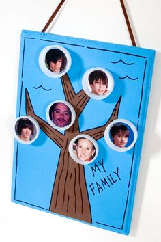 Fun for Kids Family Tree created with FolkArt craft paint. #crafts