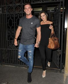 Hand in hand:Gaz Beadle's self-proclaimed ability to woo the opposite sex appeared to be well in evidence on Wednesday during a night out in Manchester with TOWIE star Mario Falcone's former girlfriend