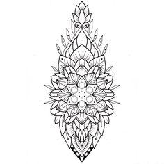 Mandalas Painting, Mandalas Drawing, Mandala Coloring Pages, Lotus Mandala, Mandala Dots, Flower Mandala, Tattoo Sketches, Tattoo Drawings, Henna Designs