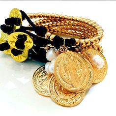 Bracelets By Vila Veloni Gold And Yellow Coin Elegant