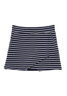 Clothing at Tesco | F&F Striped Crepe Skort > skirts > Skirts > Kids
