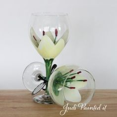 cream stargazer lilly - Hand painted by #JudiPaintedit www.JudiPaintedit.com