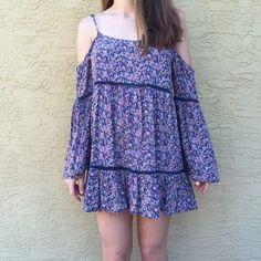 Hp Off The Shoulder Flowy Floral Dress