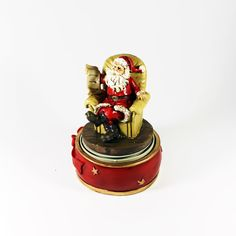 Natal - Pai Natal Sentado em Cadeirão - Bau da Cravus