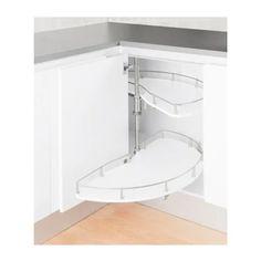 Epoq Karusell underskap 120 cm uttrekk (hvit) - Innredning til skap og skuffer - kjøkken - Elkjøp Bathtub, Cabinet, Bathroom, Chair, Storage, Vit, Furniture, Home Decor, Cloakroom Basin