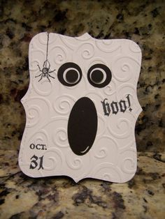 Cute Ghost Holloween Handmade Cards Stampin Up Products Used | eBay