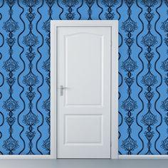 Removable Wallpaper  Lovely Lifeline in Blue  2 by WallpaperDolls, $90.00