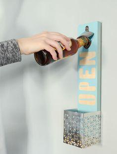 DIY: easy wall mounted bottle ppener