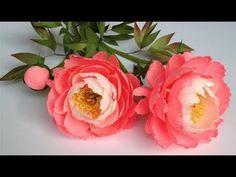 Jak zrobić piękne peonie z papieru krepiny/kwiaty z bibuły i nie tylko: Piwonie - DIY - YouTube