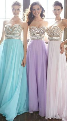 2015 New Arrival Prom Gown A-Line Sweetheart Sweep/Brush Chiffon With Beading&Rhinestone USD 139.99 BAPRDY1Z9P