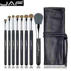 JAF Makeup Brush Set With Leather Case (8pcs) //Price: $25.06 & FREE Shipping //   #ilovemakeup