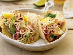 Spicy Fish Tacos With Pineapple Slaw http://www.prevention.com/food/cook/healthy-recipes-from-the-runners-world-cookbook/slide/10