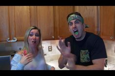 Lolol Jesse and Jeana doing the wasabi challenge! (Bfvsgf) #youtube