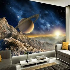 beibehang papel de parede 3d wallpaper 3d mural for living room Star Planet Universe Space planet mural photo wall paper