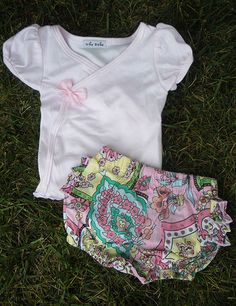Girls Diaper Cover & Tee Set- alice