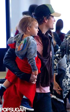 Orlando and Flynn Bloom look adorable at the airport! See where they vacationed as a family.