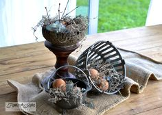 Easter decorating by @Donna - Funky Junk Interiors