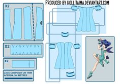 Where was this 2 years ago?!?!? Mint - Tokyo Mew Mew Cosplay Pattern Draft by Hollitaima.deviantart.com on @deviantART