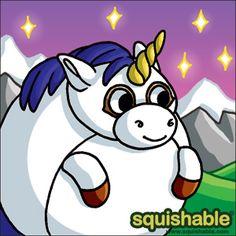 Awww little unicorn, why are you so cute!  #squishable #plush #art #unicorn