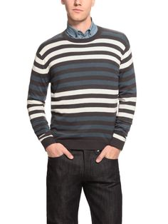 I like the stripes on this sweater. From Marc by Marc Jacobs.