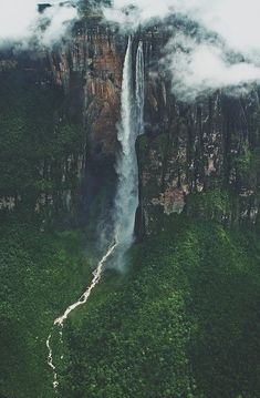 Venezuela - Angel Falls are heavily photographed but I love the moody, old world feel to this one.