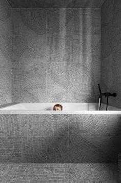 Designed for a family, architect Sergey Makhno created the Wabi Sabi Apartment by merging elements of Ukrainian design with Japanese minimalism. Bathroom Interior Design, Decor Interior Design, Interior Decorating, Minimalist Bathroom Design, Decorating Games, Bad Inspiration, Bathroom Inspiration, Wabi Sabi, Tadelakt