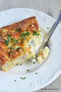 Lasagna, Quiche, Zucchini, Bacon, Food And Drink, Cooking Recipes, Breakfast, Ethnic Recipes, Low Calories
