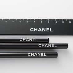 Luxury Stationary - Chanel Pencils and Ruler.