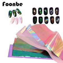 HOT 10 pcs Vidro Do Espelho Quebrado Unha Dicas Stencil Folha Stciker Decalque Dedo Nail Art Projeto Manicure Ferramentas Nail Care alishoppbrasil