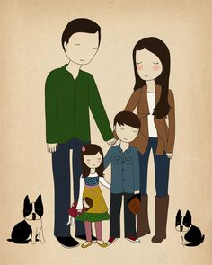 Would absolutely love a Nan Lawson custom family illustration someday!