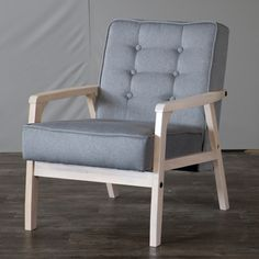 Wholesale Interiors Baxton Studio Mid Century Timor Arm Chair | AllModern