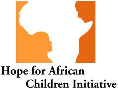 Hope for African Children Initiative: When you first look at it, it looks like only a map of Africa. But take a closer look and you'll see an adult and child facing each other.