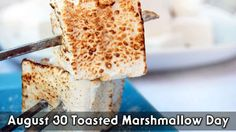 August 30 Toasted Marshmallow Day
