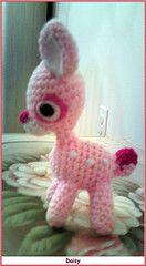crochet toy deer Bambi