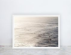 Silver Surf: Dusk, Sunset, Ocean, Surf, Surfers, Waves, Photograph, Instant Digital Printable Poster Art Prints, by Nine Lives Collective Silver Surf, Printable Art, Printables, Nine Lives, Surfers, Dusk, Photograph, Waves, Ocean