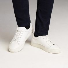 Park Leather Low-Top Sneakers in White | Frank & Oak