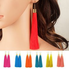 2016 Bohemian Big Geometrische Lange Ohrringe Gold Überzog Quaste Frauen Retro Mode Legierung Wassertropfen Ohrringe Freies Verschiffen