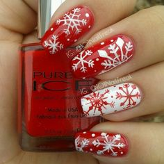 snowflakes by 101nailfreak #nail #nails #nailart