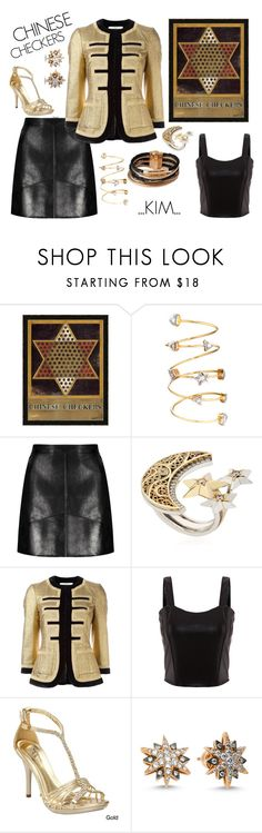 """CHINESE CHECKERS"" by kimmie-plus2 on Polyvore featuring Home Decorators Collection, AZZA FAHMY, Givenchy, Ellie and L.K.Bennett"