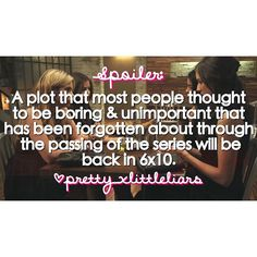 It's said that a plot that we all thought was boring and not important that has been forgotten about throughout the show will be brought back up in the 6x10 finale.  #pll #prettylittleliars #summerofanswers #WildenisA #WildenisCharles #gameovercharles #lastdance #whoisCharles #whoisA #alisondilaurentis #hannamarin #emilyfields #spencerhastings #ariamontgomery #pllspoilers #plltheories #prettylittleliarsspoilers #prettylittleliarstheories #pll609 #pll6x09 #spoby #ezria #haleb #emison #follow…