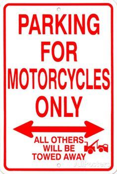 オールポスターズの「バイク」ブリキ看板