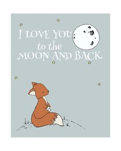 Fox Nursery Art : I love you to the moon and back. You can CUSTOMIZE this print to any colors you choose, either from the color chart or a picture or link, just let me know and I can create a custom listing for you! *Be sure to select your size in the drop down box above. Here at Sweet Melody Designs we love creating cute art for your little ones rooms. We believe in encouraging the imagination of children and giving them a beautiful place to grow up. It is our hope that our art can have a…
