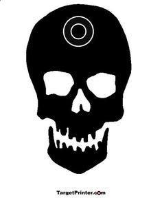 Printable Target Skull Silhouette Gun Shooting Range