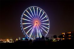 Light show at the SkyWheel #MYRDreamVacation