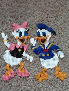 Katrien en Donald duck van strijkkralen