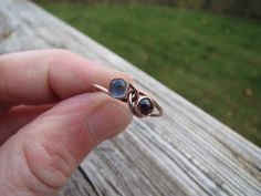 Sweetheart Ring copper with intertwining by LoMoStudio on Etsy