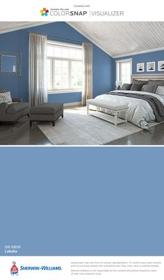 I found this color with ColorSnap® Visualizer for iPhone by Sherwin-Williams: Lobelia (SW 6809).