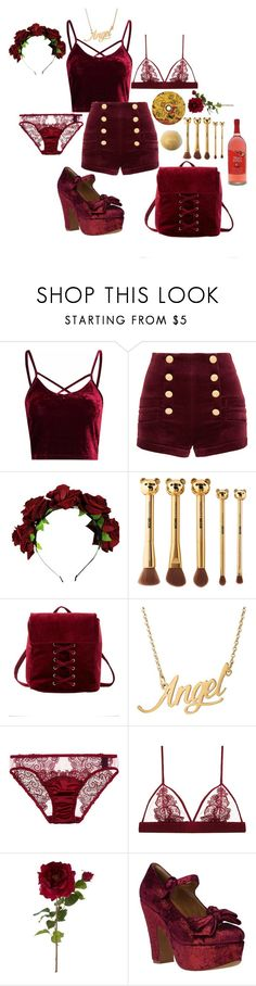 """Luxe"" by princessmiffy ❤ liked on Polyvore featuring Glamorous, Pierre Balmain, Charlotte Russe, Fleur of England, Sia and Jeffrey Campbell"