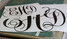 How To Make a Cut Out Monogram to Hang on a Wall or a Front Door | In My Own Style