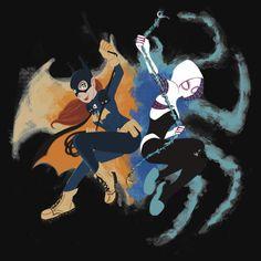Batgirl and Spider Gwen